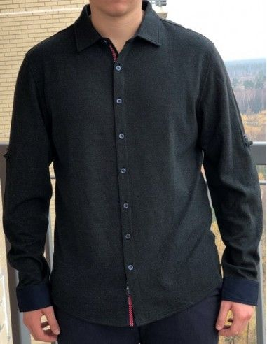 Рубашка мужская ENR 15956 DARK GREEN