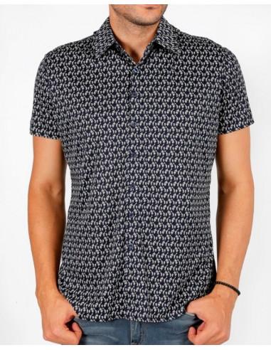 Рубашка мужская ENR 16036  NAVY BLUE